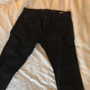 "AG ""The Tellis"" modern slim black jeans w/ stretch"